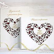 Свадебный салон handmade. Livemaster - original item Guest book and folder for the certificate-author`s set. Handmade.