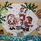 """Открытки ручной работы. Ярмарка Мастеров - ручная работа Открытка """"Письма Деду Морозу"""". Handmade."""