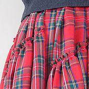 Одежда ручной работы. Ярмарка Мастеров - ручная работа Юбка в пол, в стиле бохо,юбка в крупную красную  клетку. Handmade.