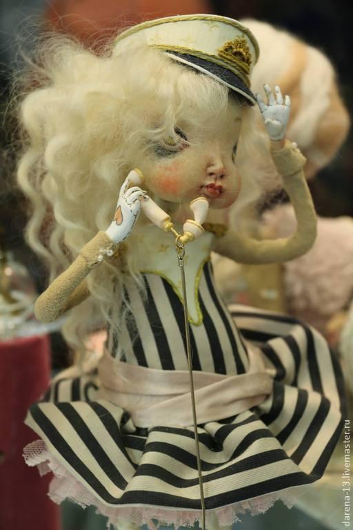 Коллекционные куклы ручной работы. Ярмарка Мастеров - ручная работа. Купить Капитанская внучка. Handmade. Белый, моряк, морская тема