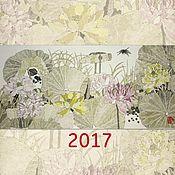 Канцелярские товары ручной работы. Ярмарка Мастеров - ручная работа авторский календарь2017(китайская живопись подарок на новый год). Handmade.