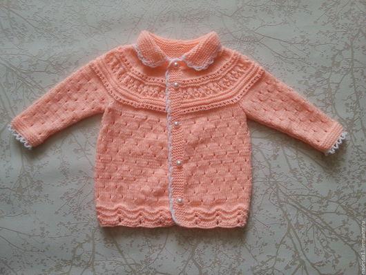 Одежда для девочек, ручной работы. Ярмарка Мастеров - ручная работа. Купить Кофточка на девочку 6-9 месяцев. Handmade. Оранжевый