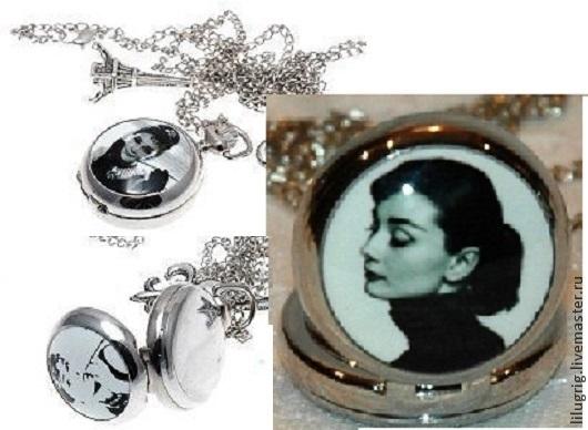 """Часы ручной работы. Ярмарка Мастеров - ручная работа. Купить Часы-кулон """"Одри"""" (3 вида). Handmade. Чёрно-белый"""