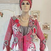 Одежда ручной работы. Ярмарка Мастеров - ручная работа Жакет «Розовый нежный шик». В стиле Шебби.. Handmade.