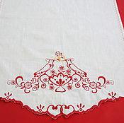 Свадебный салон ручной работы. Ярмарка Мастеров - ручная работа Хлебосольный свадебный рушник, модель 13. Handmade.