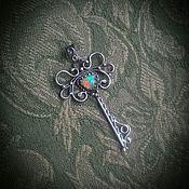 """Украшения ручной работы. Ярмарка Мастеров - ручная работа Кулон-ключ """"Цвет Волшебства"""" серебро,опал. Handmade."""