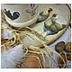 """Кухня ручной работы. Ярмарка Мастеров - ручная работа. Купить комплект из ступки и дощечки """"Петушки"""". Handmade. Бежевый, кухонная утварь"""