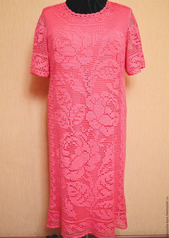 Вязание летнего платья крючком 36
