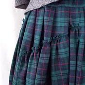 Одежда ручной работы. Ярмарка Мастеров - ручная работа Юбка в пол,юбка бохо,юбка в крупную клетку.Изумрудно-зеленого цвета. Handmade.