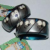 """Украшения ручной работы. Ярмарка Мастеров - ручная работа браслеты """"Серебряные коты"""". Handmade."""