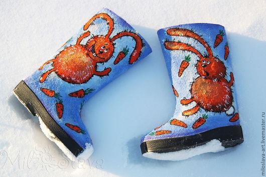 """Обувь ручной работы. Ярмарка Мастеров - ручная работа. Купить Валенки """"Солнечные зайчики"""". Handmade. Валенки ручной работы"""