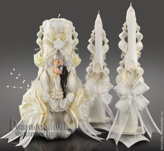 Резные свадебные свечи.Свечи домашний очаг. Свечи свадебные.Свадебные резные свечи. Резные свечи. Свечи интерьерные.