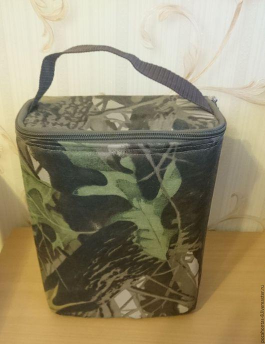 Спортивные сумки ручной работы. Ярмарка Мастеров - ручная работа. Купить Термосумка камуфляжная. Handmade. Тёмно-зелёный, для путешествий, пенофол