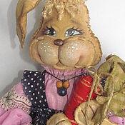 Куклы и игрушки ручной работы. Ярмарка Мастеров - ручная работа Зайка  пакетница. Handmade.