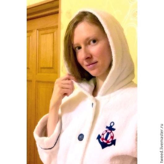 Халаты ручной работы. Ярмарка Мастеров - ручная работа. Купить Махровый длинный халат. Handmade. Белый, халат на заказ