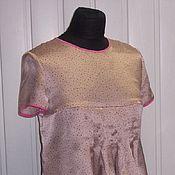 Одежда ручной работы. Ярмарка Мастеров - ручная работа Шелковая блузка с контрастной отделкой. Handmade.