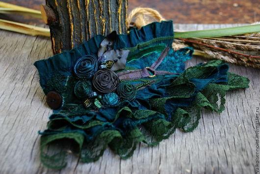 """Браслеты ручной работы. Ярмарка Мастеров - ручная работа. Купить Текстильный  бохо-браслет  """" Forest moss"""". Handmade. Браслет"""
