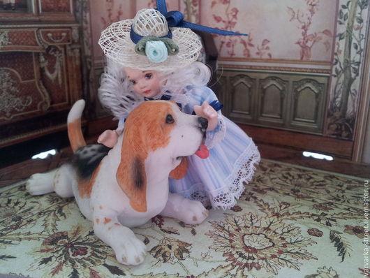 Миниатюра ручной работы. Ярмарка Мастеров - ручная работа. Купить Кукла Софи. Handmade. Голубой, детская, Литьевой пластик
