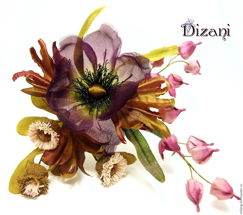Barrette Anemone Spring Waltz Silk Flowers Fabric Flowers Shop