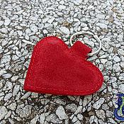 """Аксессуары ручной работы. Ярмарка Мастеров - ручная работа Брелок из кожи """"сердечко"""". Handmade."""