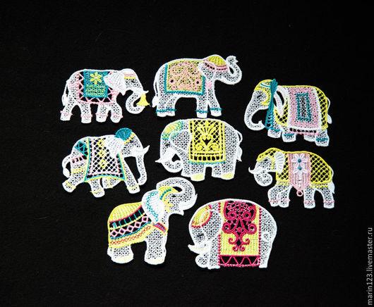 Новый год 2017 ручной работы. Ярмарка Мастеров - ручная работа. Купить Слоны на елку набор.. Handmade. Белый, слон