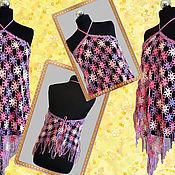 Одежда handmade. Livemaster - original item Beach top, pareo, Bacchus, shawl, poncho. Handmade.