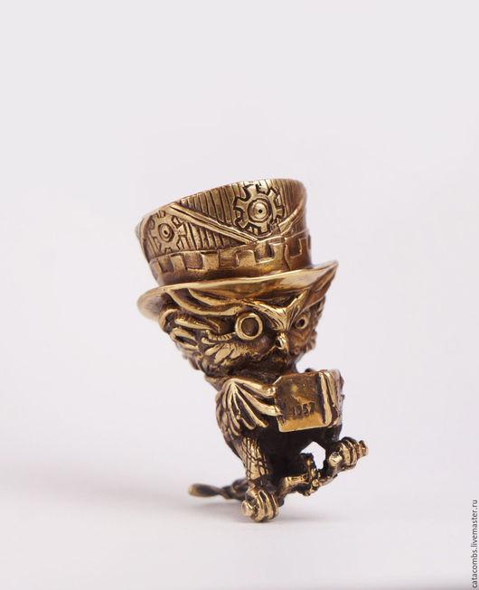 """Колокольчики ручной работы. Ярмарка Мастеров - ручная работа. Купить Колокольчик """"Филин Тесла"""". Handmade. Колокольчик, сувениры и подарки, подарок"""