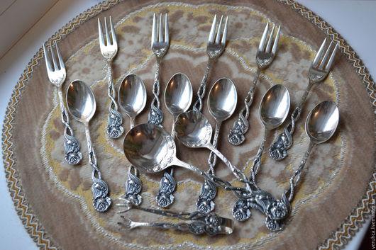 Кухня ручной работы. Ярмарка Мастеров - ручная работа. Купить Восхитительный десертный набор. Глубокое серебрение.  Германия. Handmade. Серебряный