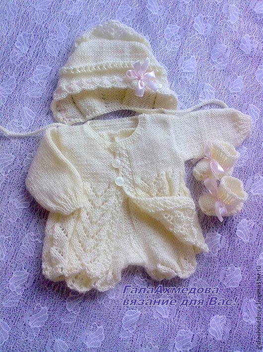 комплект для малыша, комплект для новорожденной, для детей, для малышей, комплект на выписку, вязаный костюм, костюмчик, для новорожденных,одежда для детей, для девочки, костюм вязаный, детский, купит