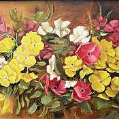 Картины и панно handmade. Livemaster - original item Oil painting Violets (pansies). Handmade.
