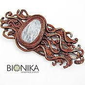 Украшения handmade. Livemaster - original item Large abstract brooch from polymer clay My Klimt. Handmade.