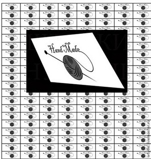Упаковка ручной работы. Ярмарка Мастеров - ручная работа. Купить Тканевые ярлычки 216 шт/этикетки, бирки с логотипом 1T-1. Handmade.