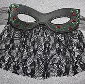 Одежда handmade. Livemaster - original item Satin mask with lace. Handmade.