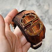 Украшения ручной работы. Ярмарка Мастеров - ручная работа Стимпанк часы наручные . Эксклюзив. Натуральная кожа.. Handmade.