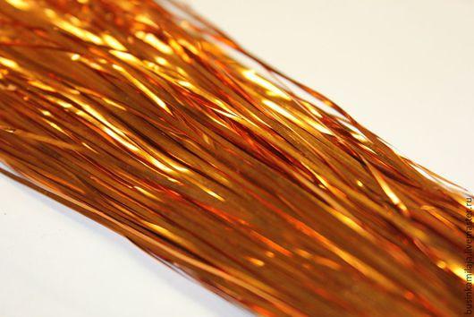 Вышивка ручной работы. Ярмарка Мастеров - ручная работа. Купить Металлические полоски Оранжевое пламя. Handmade. Металлические полоски