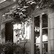 Картины и панно ручной работы. Ярмарка Мастеров - ручная работа Черно-белая фотокартина Париж город ночью «В свете ночных теней». Handmade.