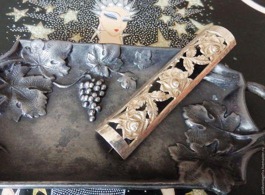 Винтажные украшения. Ярмарка Мастеров - ручная работа. Купить Старинная брошь Арт Деко Trois roses серебро 800 пробы Германия. Handmade.