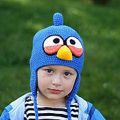 Работы для детей, ручной работы. Ярмарка Мастеров - ручная работа Шапка Angry Birds синяя птица. Handmade.