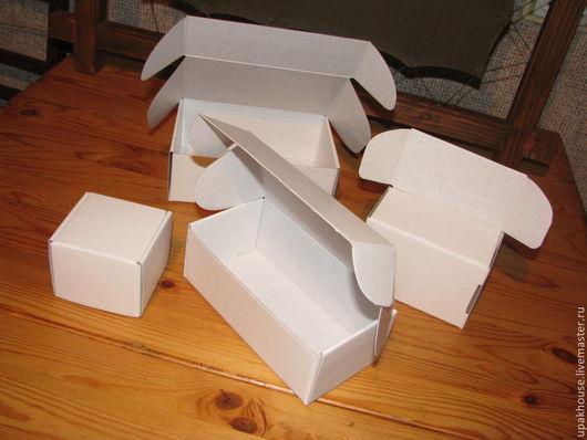 Упаковка ручной работы. Ярмарка Мастеров - ручная работа. Купить Самосборные коробки с ушками из микрогофрокартона. Handmade. Простая упаковка