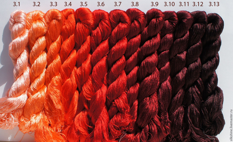 Шелковые нитки для вышивания