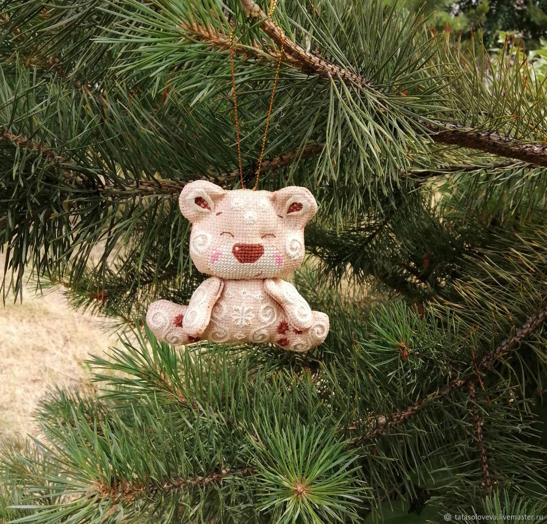 """Игрушка на елку """"Медвежонок"""", Куклы и пупсы, Курган,  Фото №1"""