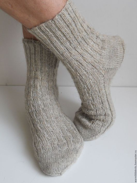 Носки, Чулки ручной работы. Ярмарка Мастеров - ручная работа. Купить Носки вязаные мужские. Handmade. Однотонный, носки вязаные