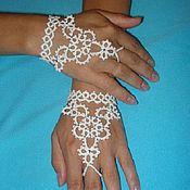 Свадебный салон ручной работы. Ярмарка Мастеров - ручная работа Митенки-браслеты для невесты. Handmade.
