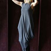 Одежда ручной работы. Ярмарка Мастеров - ручная работа Платье ASYMMETRIC NEW LIGHT GREY. Handmade.