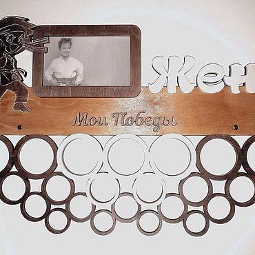 Дизайн и реклама ручной работы. Ярмарка Мастеров - ручная работа Медальница карате. Handmade.