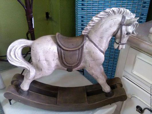 """Винтажные предметы интерьера. Ярмарка Мастеров - ручная работа. Купить Лошадка-качалка """"Пони"""" Винтаж. Handmade. Комбинированный, лошадка"""