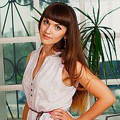 Одежда ручной работы. Ярмарка Мастеров - ручная работа Ажурная летняя летящая длинная юбка в пол сиреневого цвета. Handmade.