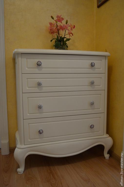 Мебель ручной работы. Ярмарка Мастеров - ручная работа. Купить Комод  Надежда. Handmade. Белый, мебель из дерева, краска