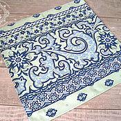 Для дома и интерьера handmade. Livemaster - original item Six napkins Olive and Turquoise. Handmade.