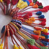 Русский стиль ручной работы. Ярмарка Мастеров - ручная работа Пояс тканый на дощечках. Handmade.